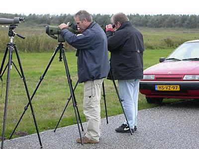André en Johan in actie