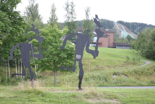 De Olympische schans in Lillehammer.