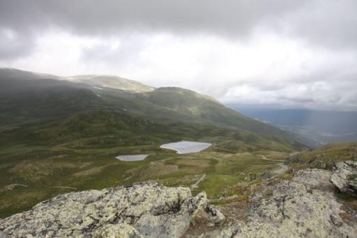Uitzicht vanaf de berg bij Oppdal, die via de gondelbaan te bereiken is.