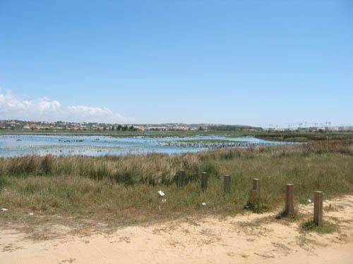 Het meer achter de golfbaan